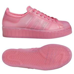 adidas ORIGINALS WOMENS SUPERSTAR TRANSLUCENT JELLY SHOES PINK TRAINERS SNEAKERS