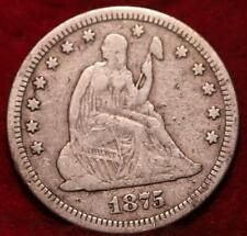 1875 Philadelphia Mint Silver Seated Liberty Quarter