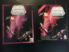 Star Wars X-WING Flight Sim by LucasArts PC Complete 1993 BOX and STRATEGY GUIDE