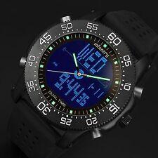 INFANTRY Mens Digital Quartz Wrist Watch Date Chronograph LED Sport Black Rubber