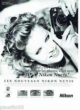 PUBLICITE ADVERTISING 116  1996  Nikon appareil photo  Nuvis & Eva Herzigova