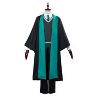 Slytherin School Uniform Cosplay Costume Robe Cloak Hallowee Outfit Full Set