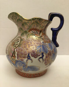 """Porcelain Ceramic Pottery Footed 9"""" Water Pitcher ~ Vase by Hubbard Collection"""
