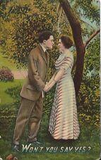 Won't You Say Yes? Vintage Postcard Romance 1911