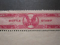 US liquor perforated Revenue stamp Tax Paid Bottle Strip Distilled Spirits mint