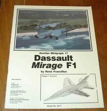 Vintage Rare Aerofax Mingraph Dassault Mirage F1