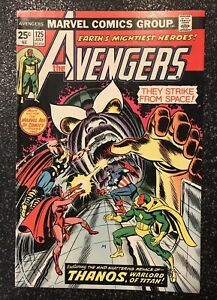 Avengers #125 Bronze age Thanos Key F+/VF- with Marvel Value Stamp