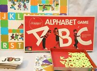 Selchow & Righter Vintage 1972 Scrabble Alphabet ABC Board Game COMPLETE