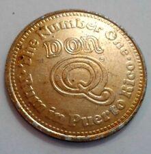 Scarce Ron DON Q GOLD Rum PUERTO RICO 1980 s Contest Lucky token 1/2 Dollar size