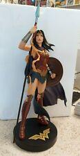 DC Designer 15 Inch Statue Wonder Woman by Jenny Frison 1727/5000 DAMAGED