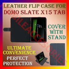 "ACM-LEATHER FLIP COVER & STAND for DOMO SLATE X15 7"" TABLET CARRY CASE POUCH NEW"