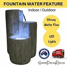 Water Fountain Feature Bird Bath LED Lights 10 Metre Cord Safe Low 12 Volt Pump