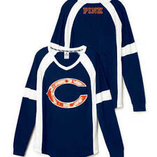 Victorias Secret Pink BLING Chicago Bears Slouchy Varsity Crew NFL EXCLUSIVE NWT