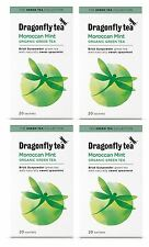 Dragonfly Tea Moroccan Mint Organic Green Tea - 20 Teabags (Pack of 4)