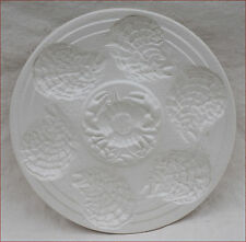 Vintage French Sarreguemines Oyster Plate White Faience Crab 1960's