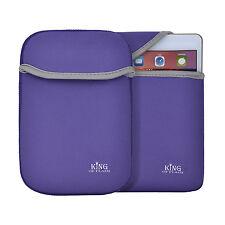 "7"" Purple Soft Cover Case Neoprene Sleeve For Tablet Netbooks DVD Player Kindle"