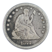 1877 Seated Liberty Quarter Very Good Condition