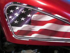 Harley Davidson decals for Sportster gas tank - American Flag edition - Chopper