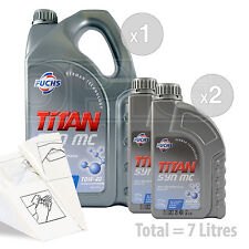 Car Engine Oil Service Kit / Pack 7 LITRES Fuchs TITAN SYN MC 10w-40 7L