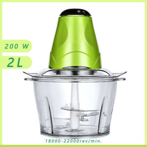 Electric Food Vegetable Chopper 200W Food Processor Meat Grinder with 2L Bowl
