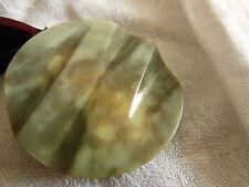 Enorme bouton ancien Art deco galalithe beige marron moucheté 4,3 ou 43 mm