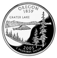 2005 S SILVER GEM PROOF OREGON STATE QUARTER 90% SILVER