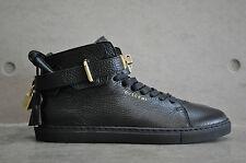 Buscemi 100mm Leather Mid Top Sneaker-Nero / oro 39 EUR UK 5