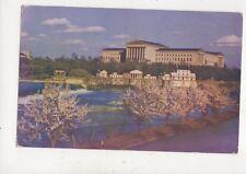 Art Museum & City Aquarium Philadelphia USA Vintage Postcard 935a