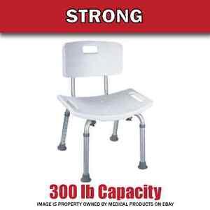 300 lb. Elderly Bathtub Bath Tub Shower Seat Chair Bench Stool with Back Support
