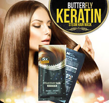 BUTTERFLY BRAZILIAN KERATIN HAIR TREATMENT BLOW DRY HAIR STRAIGHTENING HEAD MASK