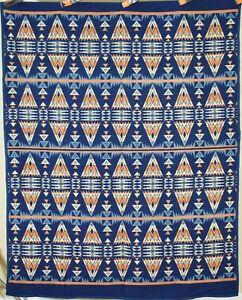 OUTSTANDING Vintage 20's Beacon Mills Antique Camp Blanket, NICE Indian Design!