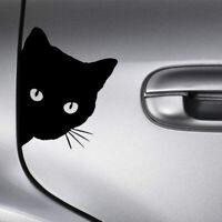 Cat Face Peering Car Decal Window Truck Auto Bumper Body DIY Sticker Accessories