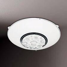 WOFI Plafonnier LED noa 1-FLG blanc verre blanc cristal Ø25 cm 8 watt 760 lumen