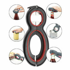 6-in-1 multifunctional plastic bottle opener beer bottle opener kitchen gadget