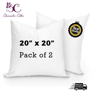 """PACK OF 2 Cushion Pads Inners Fillers Inserts 20""""x 20"""" Inch Hollow Fibre Corovin"""