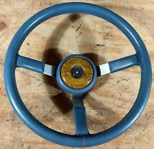 1985 1986 1987 1988 AMC Eagle NOS blue leather 3 spoke steering wheel