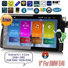 "Android 8.1 BMW E46 Autoradio 3 Series M3 MG ZT Rover 75 4G GPS TNT DAB+9""2896FR"