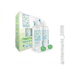 Biotrue Flight Pack Pflegemittel -  2x60 ml + 2 x Behälter + 1 x Zip-Bag