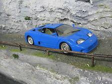 Bburago Bugatti EB110 1:18 Blue (broken wind screen)