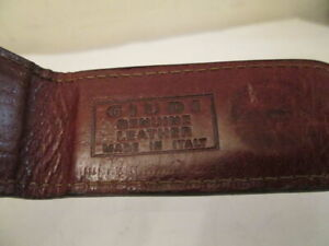 GIUDI Italy Elegant Mini Magnet Leather Wallet Money Clip Cash Clamp Card Holder