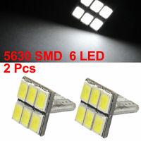 Car T10 W5W 6 5630 SMD LEDs White Signal Light Dash Bulb 2pcs internal