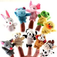 10PCs Familie Fingerpuppen Stoffpuppe Baby Lern Hand niedlichen Tier Spielzeug