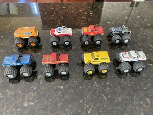 VINTAGE 1985 MATCHBOX SUPERCHARGERS  DIECAST MONSTER TRUCKS Lot Of 8.