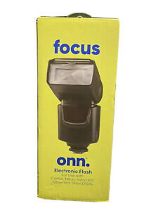 Onn Electronic Camera Flash for Nikon, Canon, Sony and Hot-Shoe DSLRs.