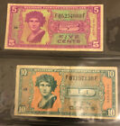 5 Cents &10 Cent US MILITARY PAYMENT CERTIFICATE SERIES 541 (See Photos)