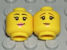 LEGO 2 CITY GIRL HEADS Yellow Dual Sided Lips Sunglasses Female Minifigure Faces