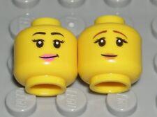 LEGO 2 CITY GIRL HEADS Yellow Dual Sided Lips Sunglasses Female Minifigure Faces