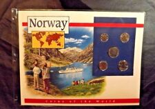 5 NORWAY COINS OF THE WORLD POSTAL COMMEMORATIVE SOCIETY 1995-96