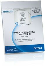 LIMITED TIME OFFER New Ormco Damon Copper NITI Sizes 14, 14x25, 18,18x25 CUNITI