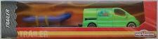 Majorette Renault Trafic grün Anhänger Schlauchboot Neu/OVP Transporter Van Bus